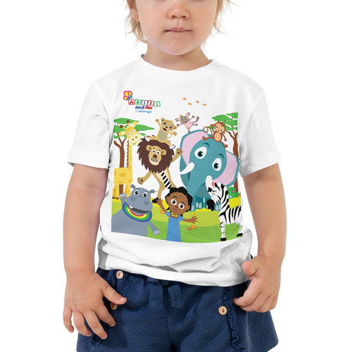 Animal Safari Short Sleeve Toddler Tee