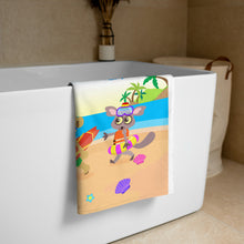 Load image into Gallery viewer, 'Akili and friends at the beach' Towel