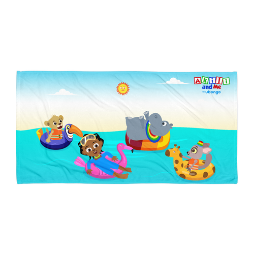 'Akili and friends at sea' Towel
