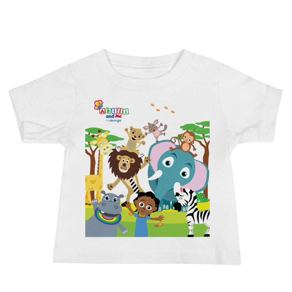 Animal Safari Short Sleeve Baby Tee