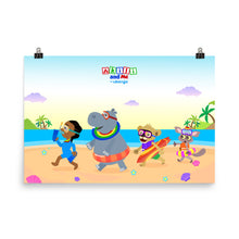 Load image into Gallery viewer, 'Akili and friends at the beach' Poster