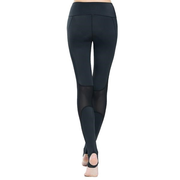 Mesh leggings with feet cover