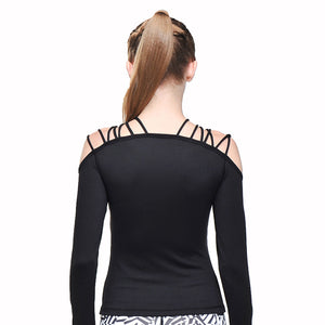 Long sleeve singlet with laces