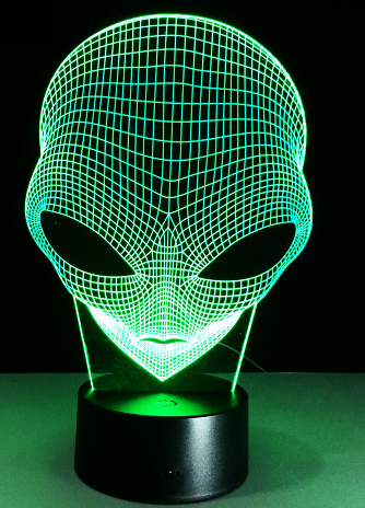 Alien 3D Hologram Lamp Night - Glowsery
