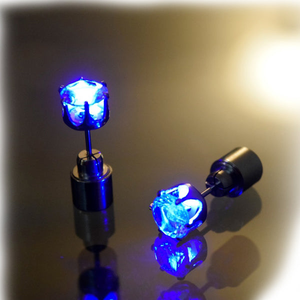 Crown Led Glowing Crystal Earring - Glowsery
