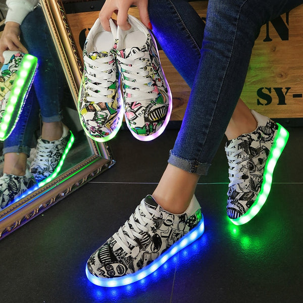 Fashion Luminous Sneakers - Glowsery
