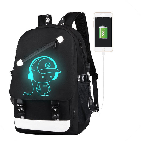 Glowing Backpack USB Charger - Glowsery