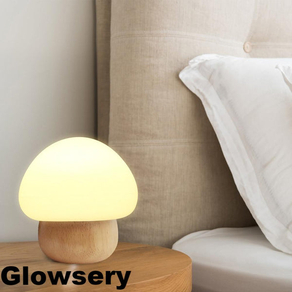 Wooden Mushroom Night Light - Glowsery