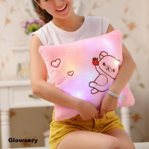 Cute Light Bear Flashing Pillow (35CM) - Glowsery