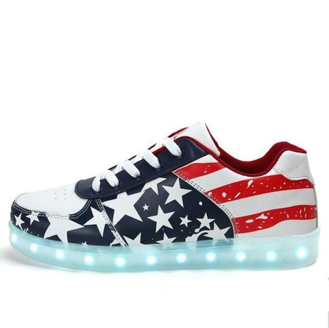 USA Design Casual Style Glowing Sneakers
