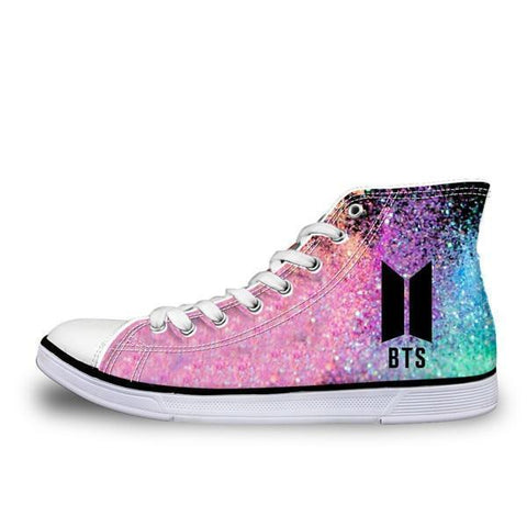 BTS Glowing High top Sneakers Shoes