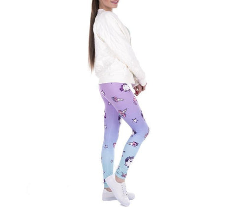 Colorful Fashion Women Unicorn Leggings - Glowsery