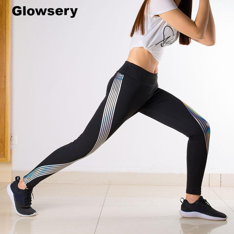 Glow Rainbow Leggings Sportswear - Glowsery