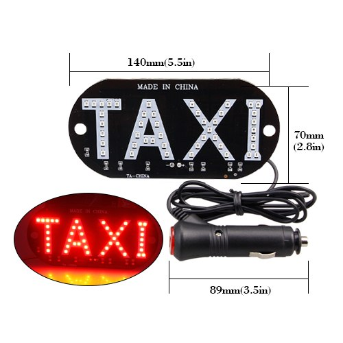 Light Sign LED Roof Uber/TAXI - Glowsery