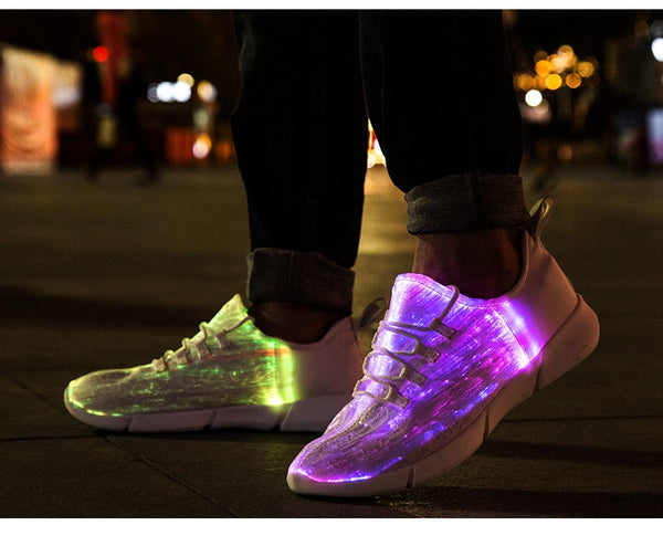 Fiber Optic Glowing Sneakers - Glowsery