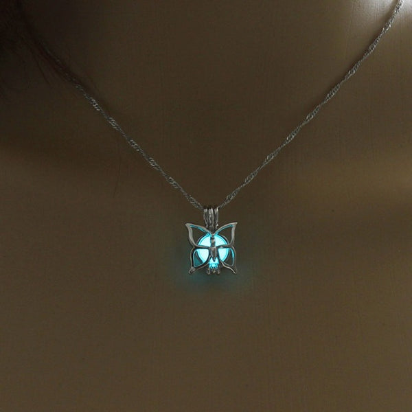 Luminous Butterfly Necklace - Glowsery