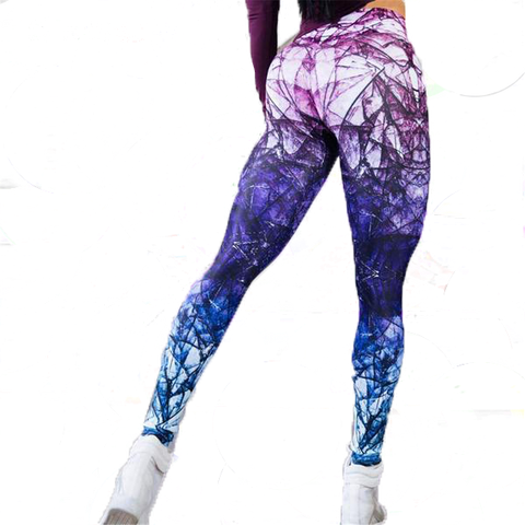 Colorful Woman Running Fitness Sport Leggings