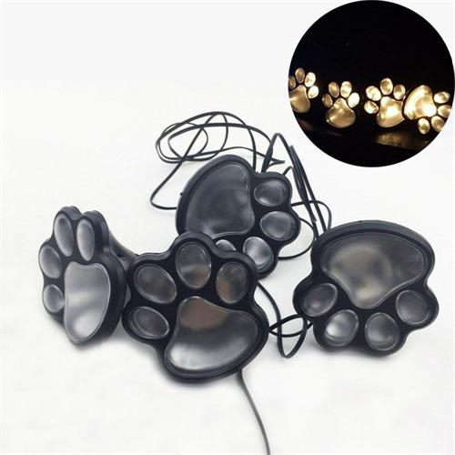 Animal Paw 100% Solar Powered 4LED Lights - Glowsery