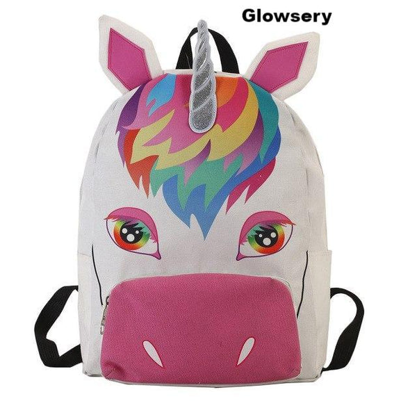Fashion Women Bag Colorful Unicorn Backpack - Glowsery