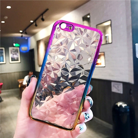 3D Glowing Diamond Phone Case For Samsung | iPhone