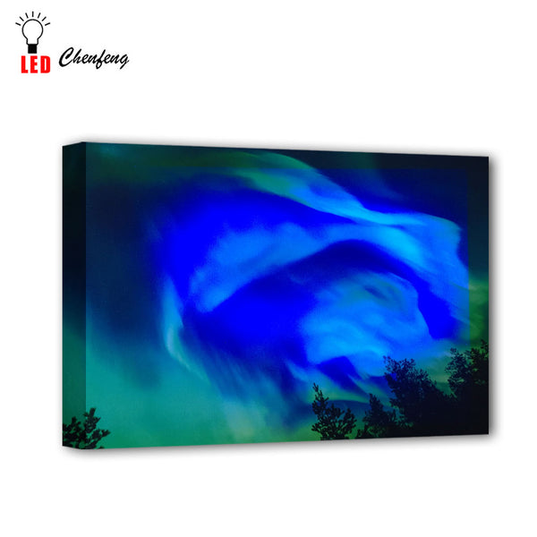 LED Colorful Auora Picture - Glowsery