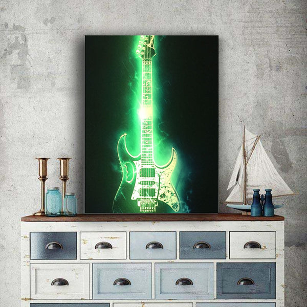 LED Guitar Picture - Glowsery