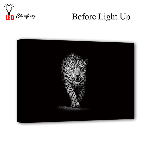 LED Leopard Picture - Glowsery