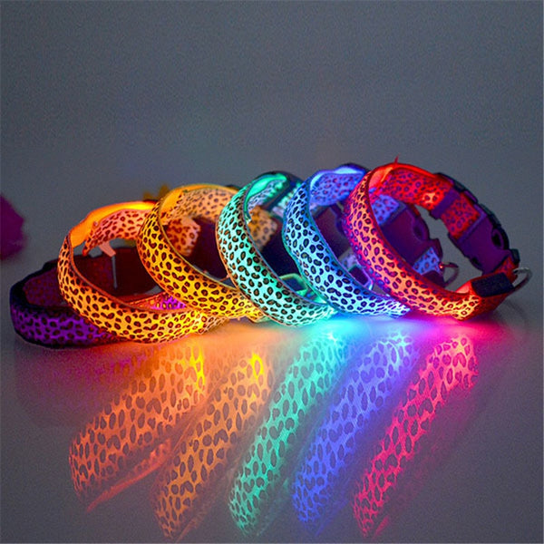 LED Light Glow Pet Collar Leopard - Glowsery