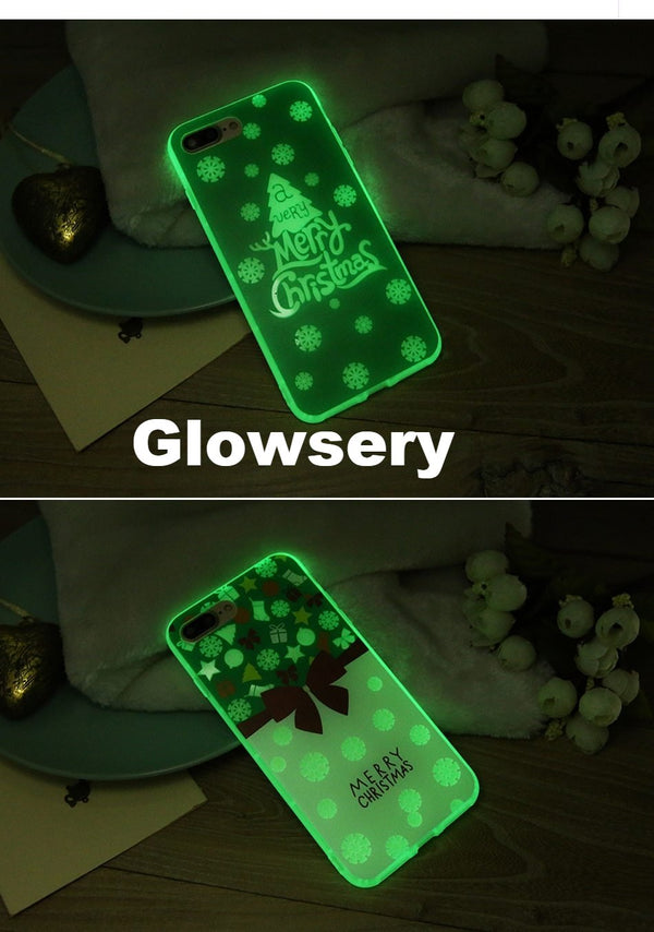 Luminous Christmas Case For iPhone - Glowsery