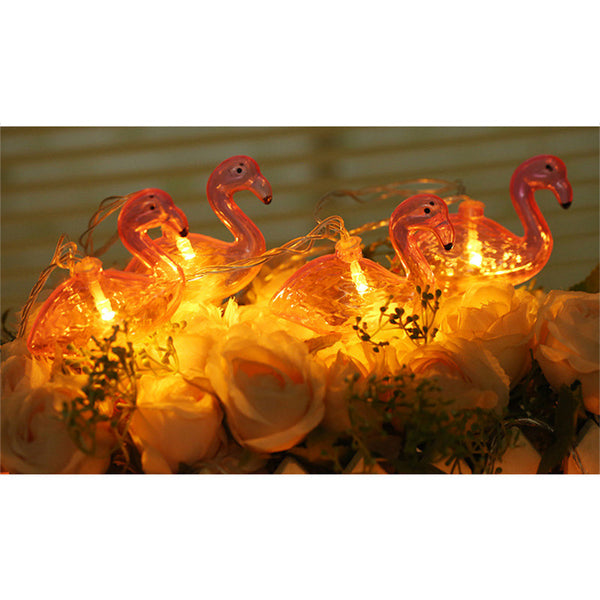 LED String Flamingos Night Lights Decor - Glowsery