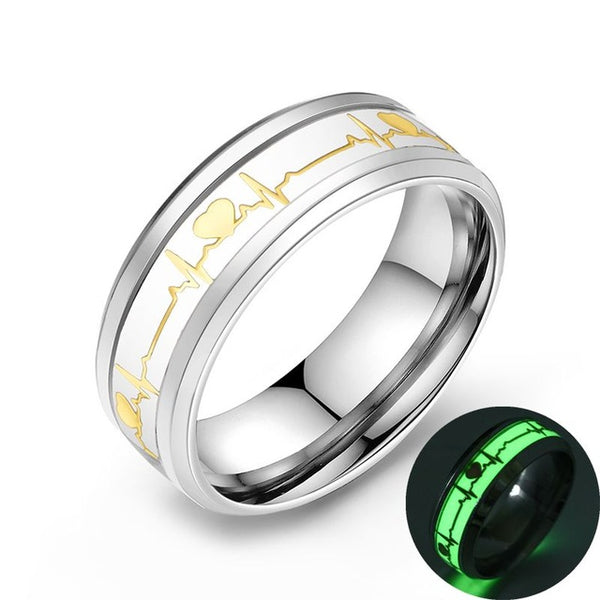 Glowing ECG Ring - Glowsery