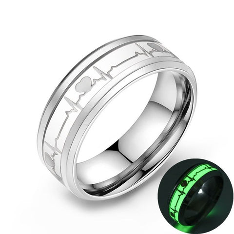 Glowing ECG Ring