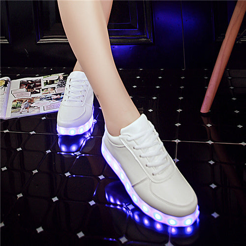 Led Light Up Fashion Sneakers - Glowsery