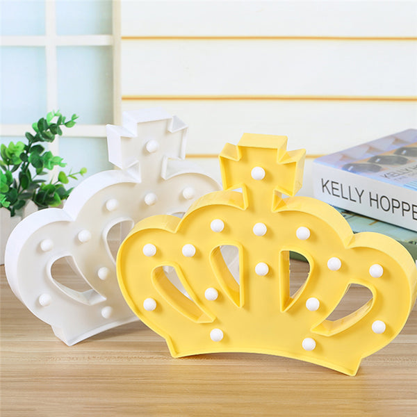 3D LED Light Crown Sign - Glowsery