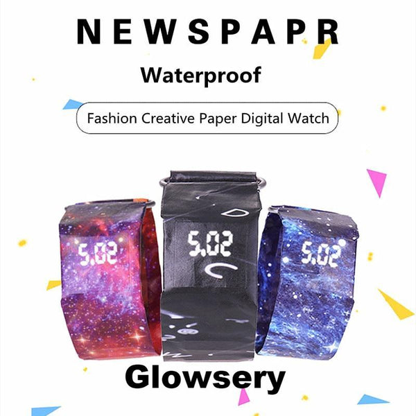 Stylish Waterproof Led Paper Watch - Glowsery