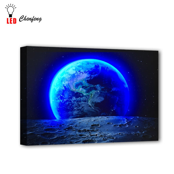 LED Earth View Picture - Glowsery