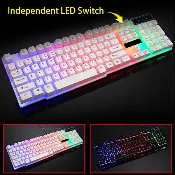 Led Gaming Keyboard+Cool Mouse Pad - Glowsery