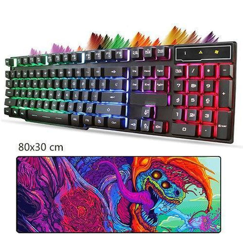 Led Gaming Keyboard+Cool Mouse Pad