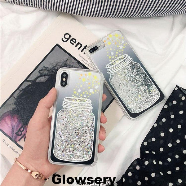 Luxury Sparking Wishing Bottle Phone Case For iPhone - Glowsery
