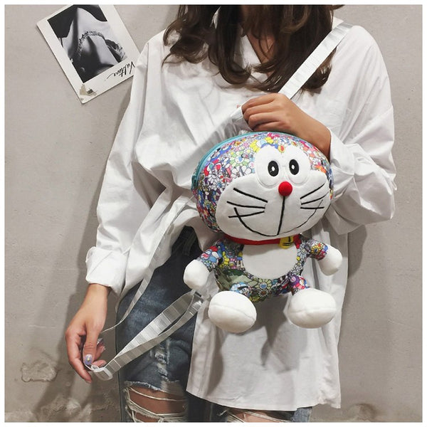 3D Doraemon Backpack for Teenage - Glowsery