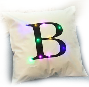 Led Cushion Creative Letters Home Decoration