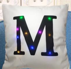 Led Cushion Creative Letters Home Decoration - Glowsery