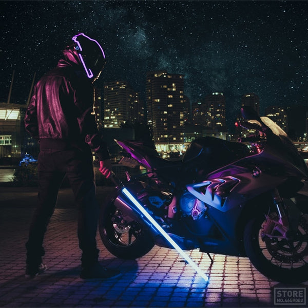 Luxury Led Motorcycle Helmet - Glowsery