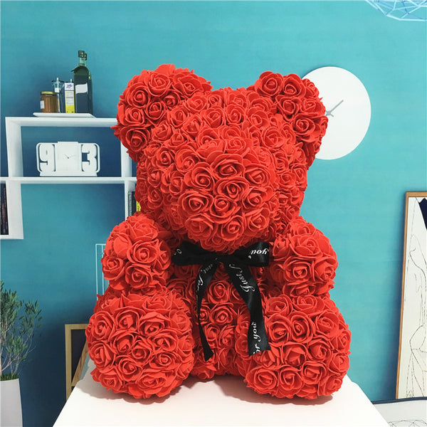 Romantic Rose Teddy Bear + Display Box - Glowsery