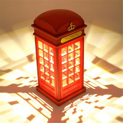 CREATIVE TELEPHONE BOOTH LED DECOR