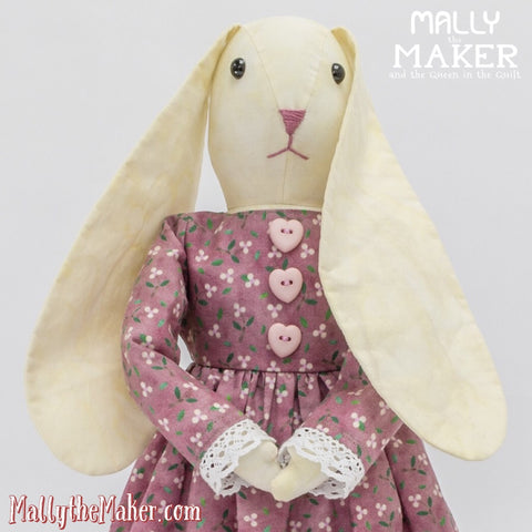 Ms. Bunny doll sewing pattern for beginners