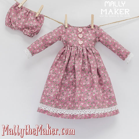 Ms. Bunny Doll dress and panties sewing pattern
