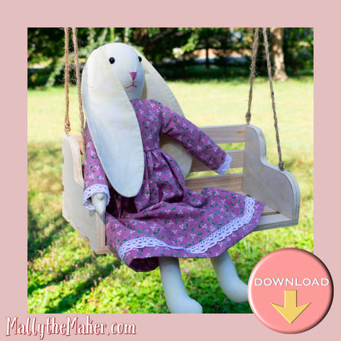 Ms Bunny doll sewing pattern