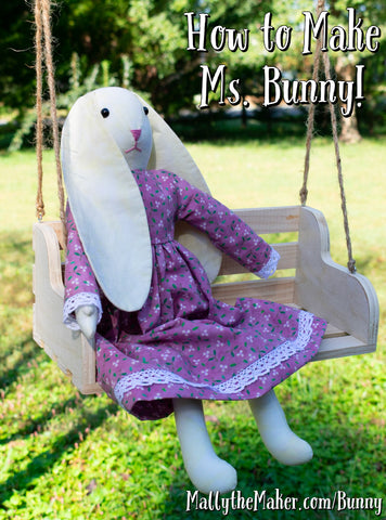 How to make Ms Bunny | rabbit doll sewing tutorial