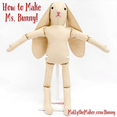 How to sew a Ms. Bunny Doll